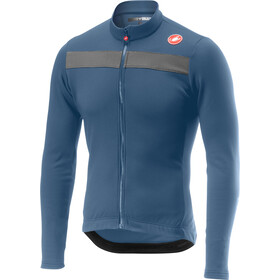 Castelli Puro 3 Full-Zip Jersey Hombre, light steel blue